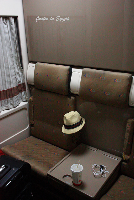 Cabin view. At night, the cabin attendant turn the seats into a bed. There are 2 beds in each cabin. Photo by:  JustinChuang
