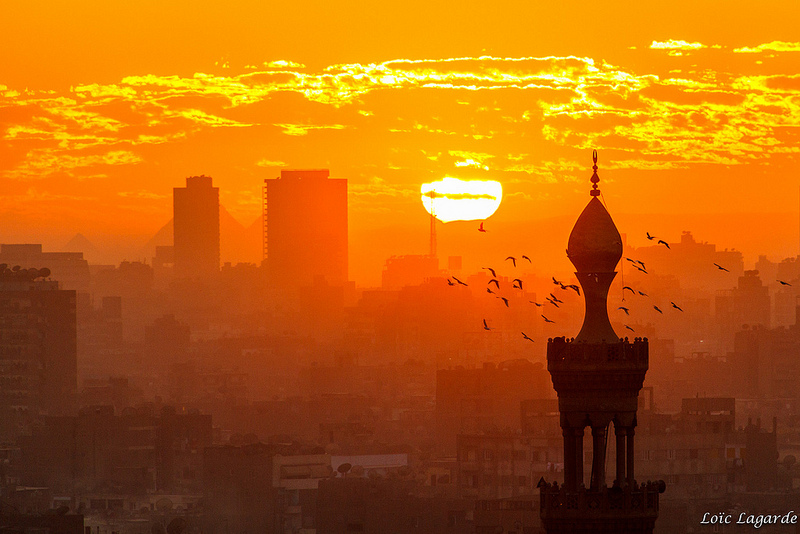 Sunset Over Cairo by Loic Lagarde
