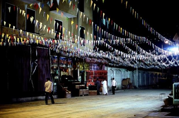 Ramadan decorations (Photo by Kyoko Nishimoto)