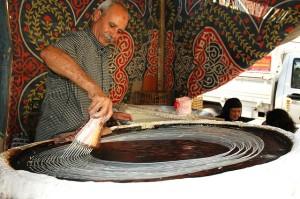 Konafa making process (Photo by Flickr user: nikond70s20010 )