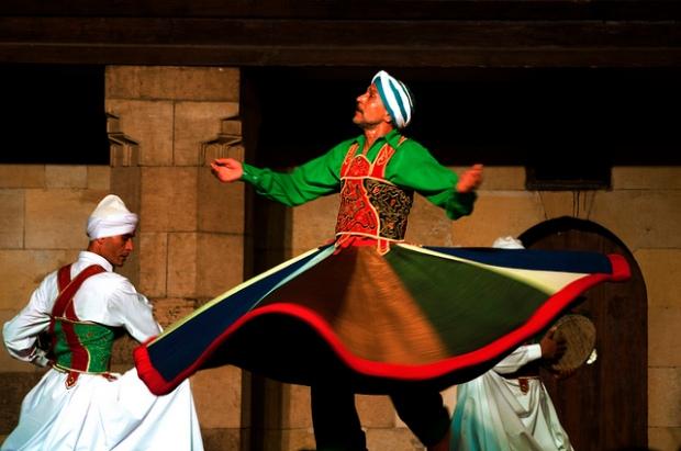 Tanoura show in Wekalet el-Ghouri, Cairo - Egypt (Photo by Marwa Morgan)